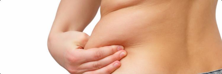 Как убрать жировые складки на животе