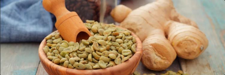 Зеленый кофе с добавкой имбиря